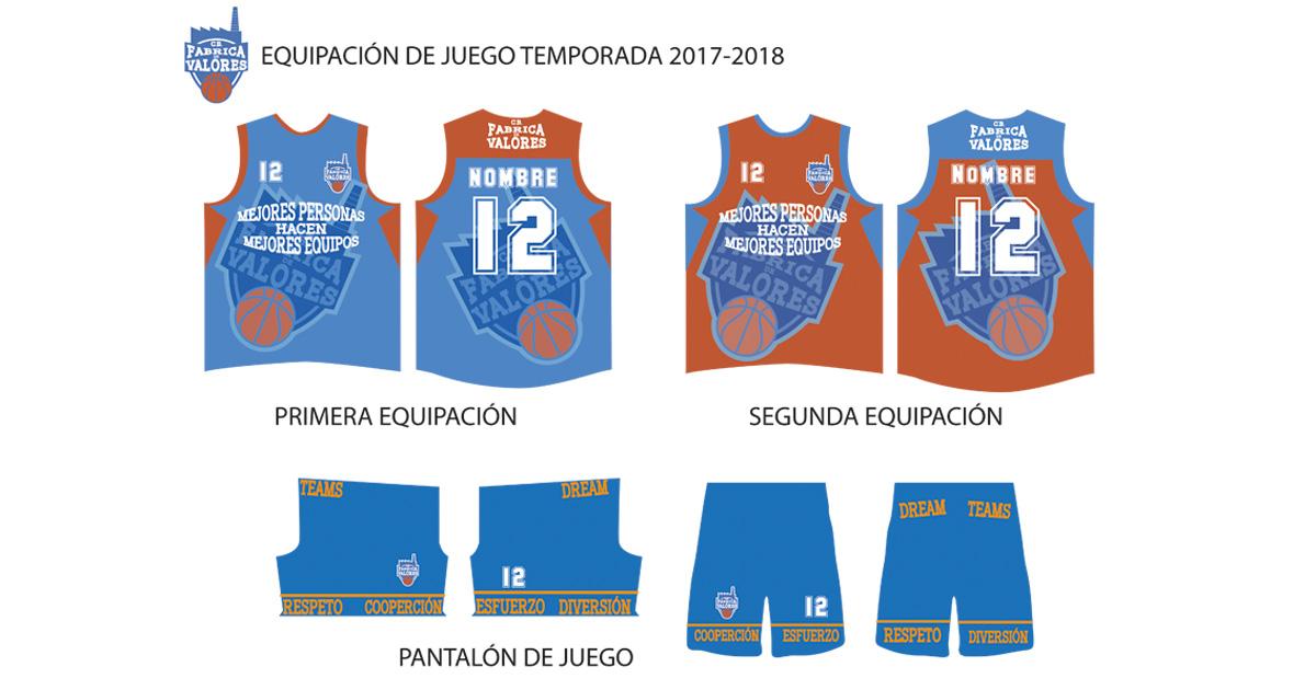 Equipación Club Baloncesto Fábrica de Valores